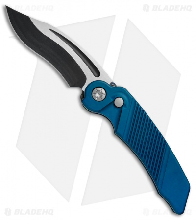 "Rat Worx MRX Full-Size Recurve Automatic Knife Blue (3.6"" Two-Tone) 06213"