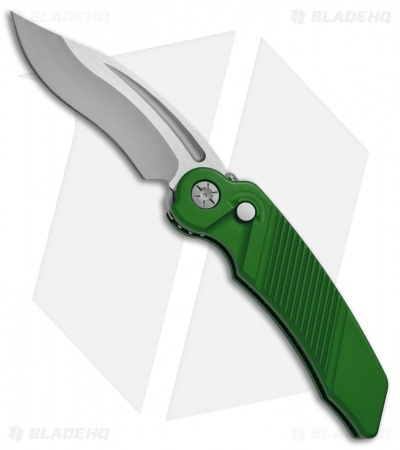 "Rat Worx MRX Full-Size Recurve Automatic Knife Green (3.6"" Two-Tone Satin) 07216"