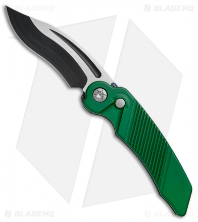 "Rat Worx MRX Full-Size Recurve Automatic Knife Green (3.6"" Two-Tone) 07213"