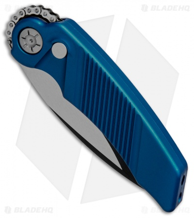 "Rat Worx MRX Mini Automatic Knife Blue (3"" Two-Tone) 06001"