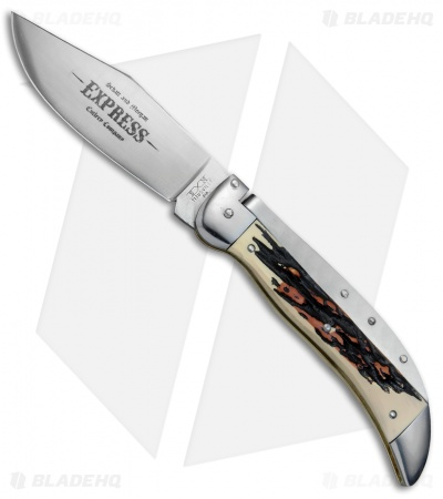 "Schatt & Morgan Express #71 Automatic Knife Burlesque Stag (4.25"" Satin)"