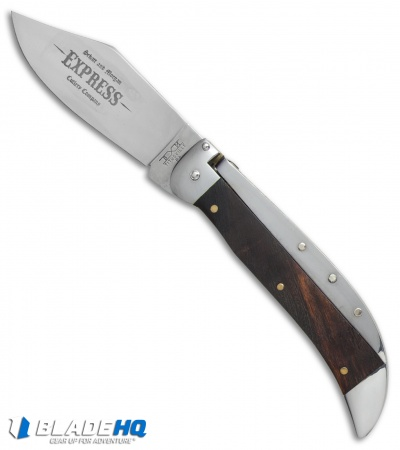 "Schatt & Morgan Express  Automatic Knife Brown Curly Maple Wood (4.25"" Satin)"