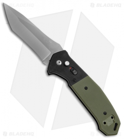"Bear OPS Bold Action V Tanto Automatic Knife Black/Green G-10 (3.75"" Gray)"