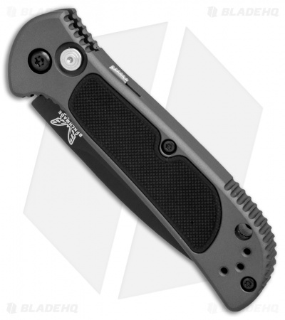 "Benchmade 9750SBK Mini Coalition Auto Knife Gray Al/Black G-10 (2.9"" Black Serr)"