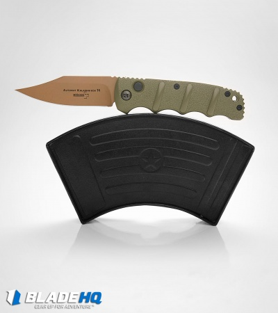 Boker Desert Warrior Kalashnikov Bowie  Automatic Knife OD Green (Copper)