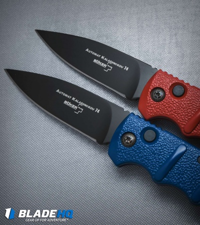 "Boker Kalashnikov Automatic Knife Red (3.25"" Black)"