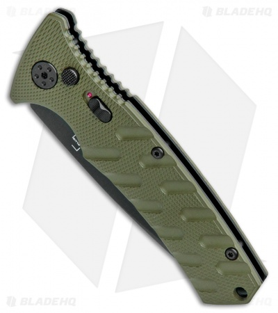 "Boker Plus Strike Drop Point Automatic Knife OD Green (3.25"" Black D2)"