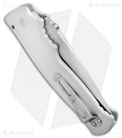 Walter Brend M2 Auto Knife Silver Set (Tanto + Clip Point)