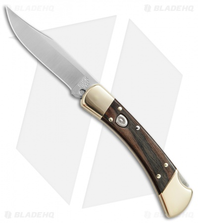 "Buck 110 Automatic Lockback Knife Ebony Dymondwood (3.75"" Satin)"