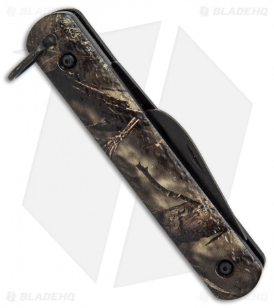 "Colonial Knife Company M-724 Camo Auto Rescue Military Knife (3"" Black)"