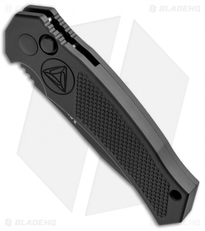 "Combative Edge M1/X Tanto Automatic Knife Black (3.25"" Black Serr)"