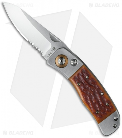 "CRKT Lake's PAL Automatic Conversion Knife (2.75"" Satin Serr) 7243"