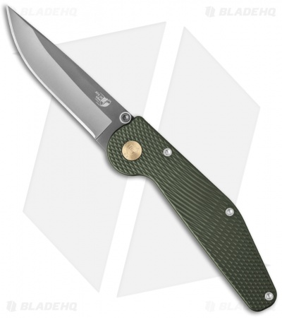 "GT Knives Police Automatic Knife Green (3.625"" Gray) GT111"