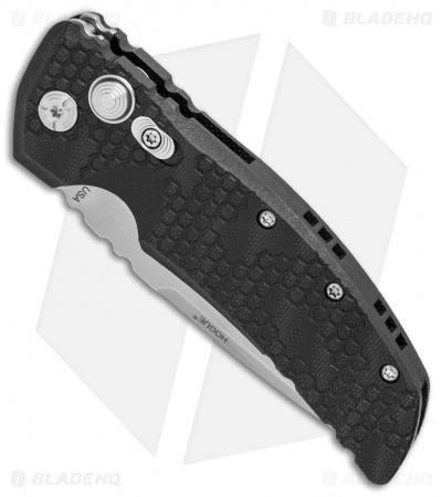 "Hogue EX-A01 Automatic Drop Point Knife Black Tread G-10 (3.5"" Stonewash) 34137"