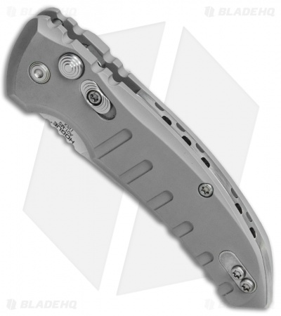 "Hogue Knives CA Legal A01 Microswitch Automatic Knife Gray (1.8"" Stonewash)"