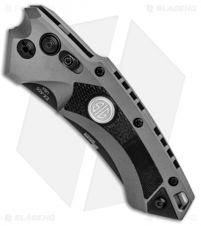 "Hogue Sig Sauer EX-A05 Wharncliffe Automatic Knife Grey (3.5"" Black) 36522"