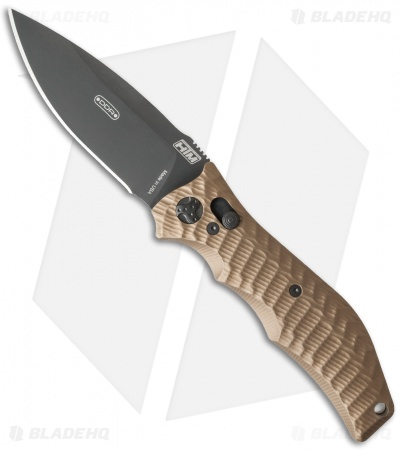 "HTM Gun Hammer Torpedo Automatic Knife Flat Dark Earth (3.5"" Black)"