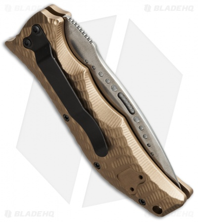 "HTM Gun Hammer Radian Automatic Knife Flat Dark Earth (3.5"" NG Satin Serr)"