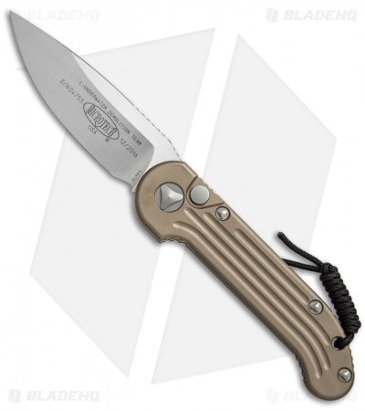 "Microtech LUDT Automatic Knife Tan (3.4"" Satin) 135-4TA"