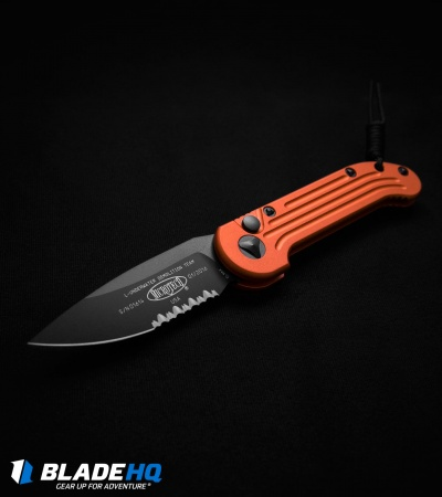 "Microtech LUDT Automatic Knife Orange (3.4"" Black Serr) 135-2OR"