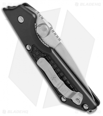 "Marfione / Strider Custom MSG-2 Dual-Action Knife Black (3.5"" Stonewash) II"