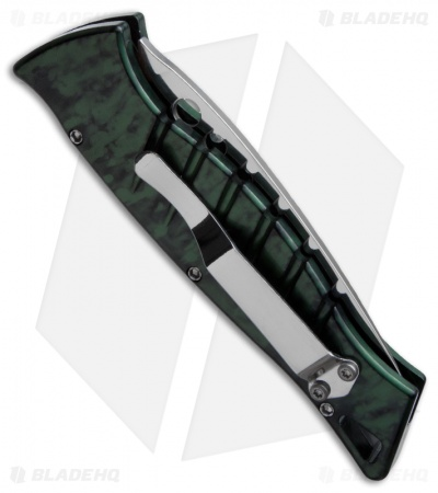 "Piranha Amazon Automatic Knife Green (3.45"" Mirror Serr)"