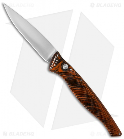 "Piranha DNA Automatic Knife Orange Marble (3.25"" Mirror)"