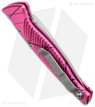 "Piranha DNA Automatic Knife Pink Vein (3.25"" Mirror)"