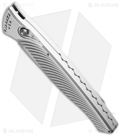 "Piranha DNA Automatic Knife Silver (3.25"" Mirror Serr)"