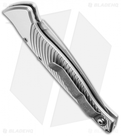 "Piranha DNA Automatic Knife Silver (3.25"" Mirror)"