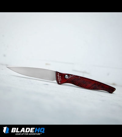 "Piranha DNA Automatic Knife Red Marble (3.25"" Mirror)"