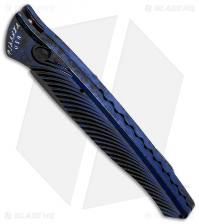 "Piranha DNA Automatic Knife Blue Marble Tactical (3.25"" Black Serr)"
