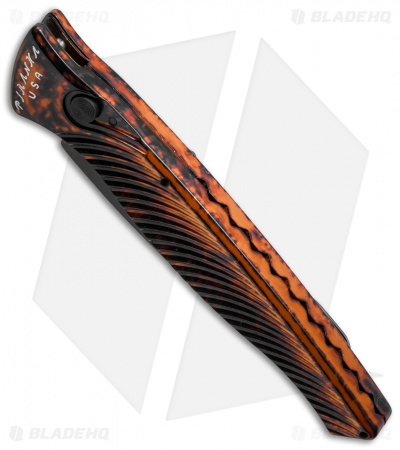 "Piranha DNA Automatic Knife Orange Marble Tactical (3.25"" Black Serr)"