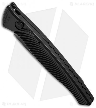 "Piranha DNA Automatic Knife Black Tactical (3.25"" Black Serr)"