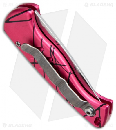 "Piranha Fingerling Hot Pink Automatic Knife (2.5"" Mirror Plain)"