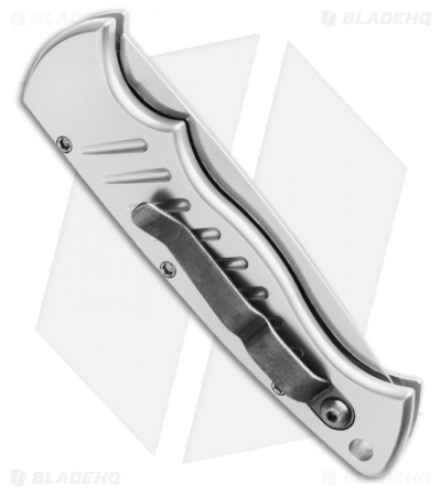 "Piranha Pocket Automatic Knife Silver (3.2"" Mirror)"
