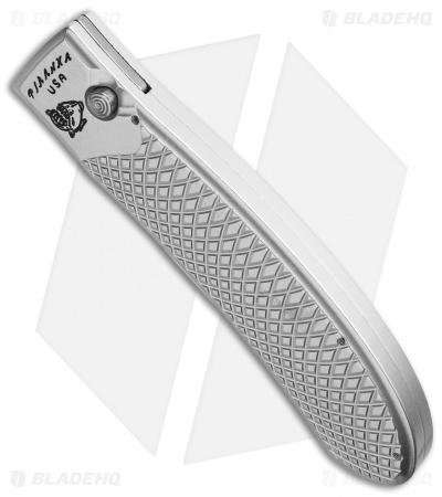 "Piranha Toxin Automatic Knife Silver (3.75"" Mirror Serr)"