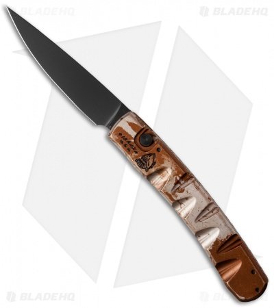 "Piranha Virus Automatic Knife Desert Camo (3.25"" Black)"