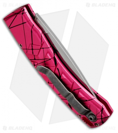 "Piranha X Automatic Knife Pink (3.3"" Mirror Serr)"
