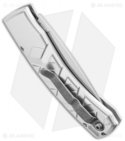 "Piranha X Automatic Knife Silver (3.3"" Mirror Serr)"