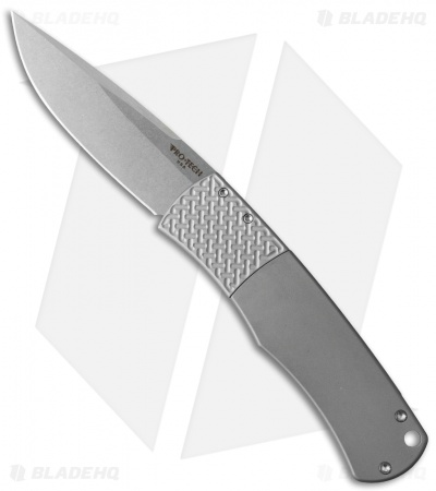 "Protech Magic ""Whiskers"" Automatic Knife Gray (3.125"" Stonewash) BR-1.10"