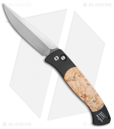 "Protech Brend 1 Automatic Knife Maple Burl (4.6"" Satin) 1106"