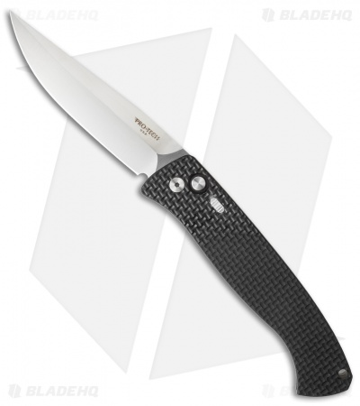 "Protech Brend 1 Automatic Knife Knurled Black (4.6"" Satin) 1140"