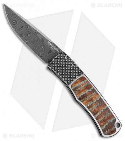 Protech Custom Magic BR-1 Automatic Knife Mastodon/Stainless Steel (Damascus)