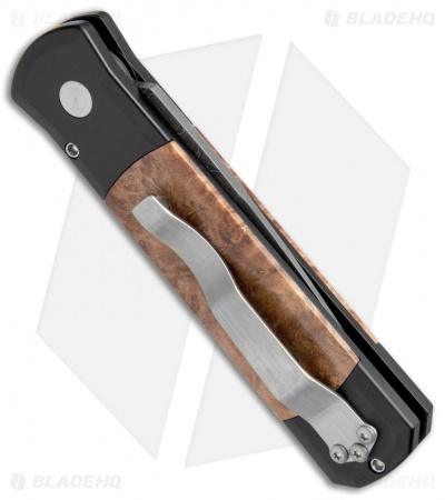 "Protech Godson Limited Edition Automatic Knife Maple Burl (3.15"" Damascus) 706-D"