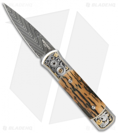 "Protech Ultimate Custom Godson Automatic Knife Mastodon Bark (3.15"" Damascus)"