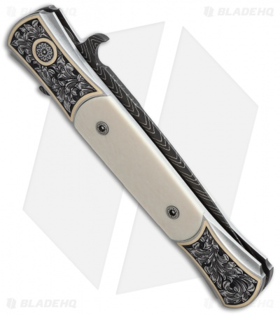 "Protech The Don Ultimate Custom Automatic Knife Ivory (3.5"" Damascus)"