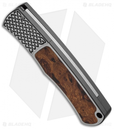 "Protech Magic BR-1 ""Whiskers"" Custom Knife Desert Ironwood (Damascus)"