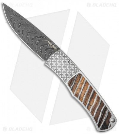 "Protech Magic ""Whiskers"" Custom Steel Automatic Knife Mastodon (Damascus) BR-1"