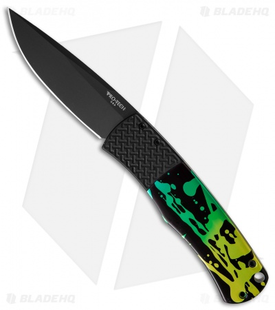"Protech Custom Magic ""Whiskers"" Automatic Knife Splash Ano (3.125"" Black) BR-1"